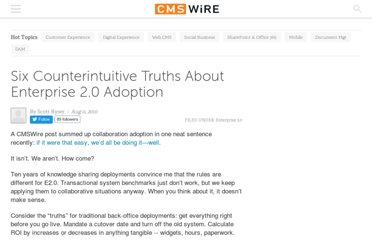 http://www.cmswire.com/cms/enterprise-20/six-counterintuitive-truths-about-enterprise-20-adoption-008291.php