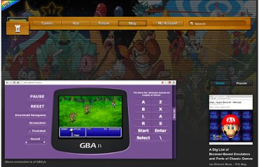 http://archive.vg/blog/12-feature/114-a-big-list-of-browser-based-emulators-and-ports-of-classic-games