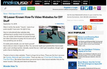 http://www.makeuseof.com/tag/10-lesser-howto-video-websites-diy-stuff/