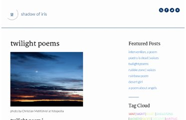 http://www.shadowofiris.com/twilight-poems/