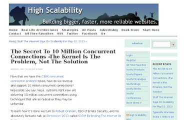 http://highscalability.com/blog/2013/5/13/the-secret-to-10-million-concurrent-connections-the-kernel-i.html
