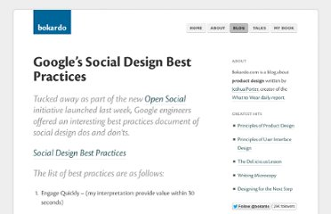 http://bokardo.com/archives/googles-social-design-best-practices/