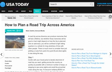 http://traveltips.usatoday.com/plan-road-trip-across-america-15566.html