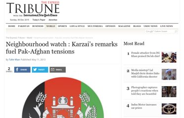 http://tribune.com.pk/story/547118/neighbourhood-watch-karzais-remarks-fuel-pak-afghan-tensions/