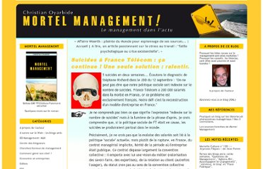 http://www.mortelmanagement.com/mortel-management/2010/09/suicides-%C3%A0-france-t%C3%A9l%C3%A9com-%C3%A7a-continue-une-seule-solution-ralentir.html