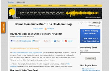 http://soundcommunication.holdcom.com/bid/96998/How-to-Add-Video-to-an-Email-or-Company-Newsletter