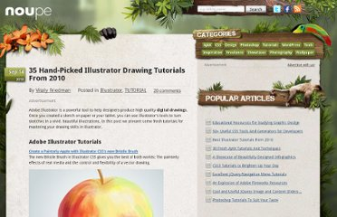 http://www.noupe.com/tutorial/hand-picked-illustrator-drawing-tutorials-from-2010.html