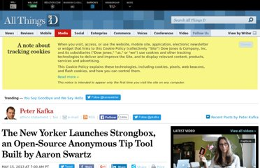 http://allthingsd.com/20130515/the-new-yorker-launches-strongbox-an-open-source-anonymous-tip-tool-built-by-aaron-swartz/
