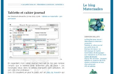 http://maternailes.net/leblog/index.php?post/2013/Tablette-et-cahier-journal