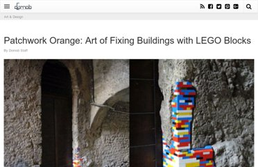 http://dornob.com/patchwork-orange-art-of-fixing-buildings-with-lego-blocks/