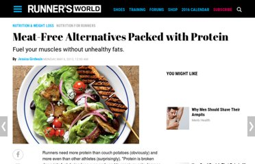 http://www.runnersworld.com/nutrition-for-runners/meat-free-alternatives-packed-with-protein