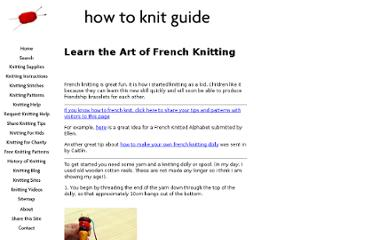 http://www.how-to-knit-guide.com/french-knitting.html
