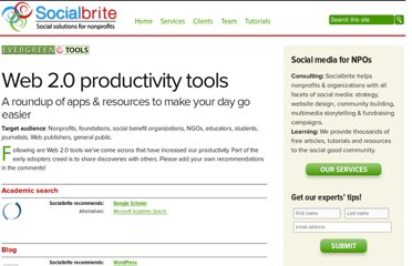 http://www.socialbrite.org/sharing-center/tools/web20-tools/