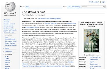 http://en.wikipedia.org/wiki/The_World_Is_Flat