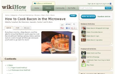 http://www.wikihow.com/Cook-Bacon-in-the-Microwave