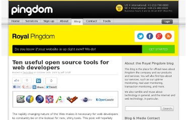 http://royal.pingdom.com/2009/10/16/ten-useful-open-source-tools-for-web-developers/