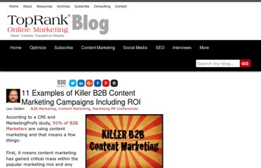 http://www.toprankblog.com/2013/05/11-examples-killer-b2b-content-marketing/