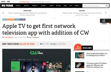 http://www.theverge.com/2013/5/16/4338910/cw-network-announces-apple-tv-app-free-ad-supported