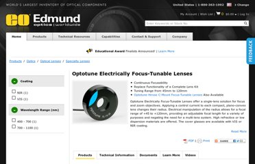 http://www.edmundoptics.com/optics/optical-lenses/specialty-lenses/electrically-focus-tunable-lenses/3384