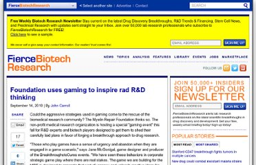 http://www.fiercebiotechresearch.com/story/foundation-hopes-gaming-can-inspire-rad-r-d-thinking/2010-09-14