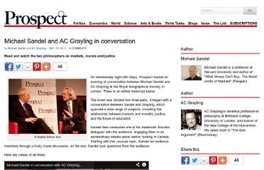 http://www.prospectmagazine.co.uk/magazine/michael-sandel-ac-grayling-transcript-video/#.UZduKtGI70N