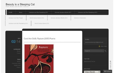 http://beautyisasleepingcat.wordpress.com/2013/02/14/carol-ann-duffy-rapture-2005-poems/