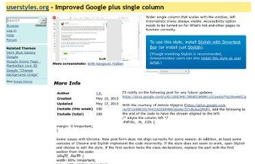 http://userstyles.org/styles/87602/improved-google-plus-single-column