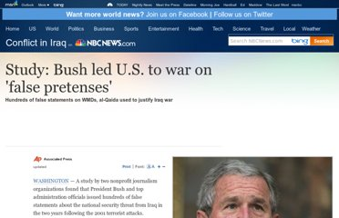 http://www.nbcnews.com/id/22794451/ns/world_news-mideast_n_africa/t/study-bush-led-us-war-false-pretenses/#.UZobZNGI70N