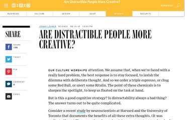 http://www.wired.com/wiredscience/2010/09/are-distractible-people-more-creative/