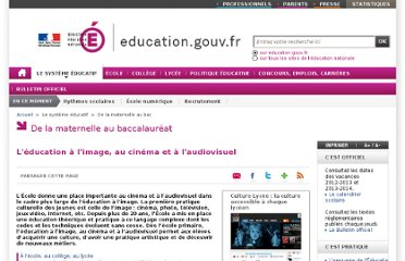 http://www.education.gouv.fr/cid21004/l-education-image-cinema-audiovisuel.html