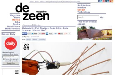 http://www.dezeen.com/2013/05/17/mataerial-3d-printer-by-petr-novikov-sasa-jokic-and-joris-laarman-studio/