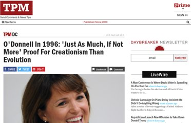 http://tpmdc.talkingpointsmemo.com/2010/09/odonnell-in-1996-just-as-much-if-not-more-proof-for-creationism-than-evolution.php