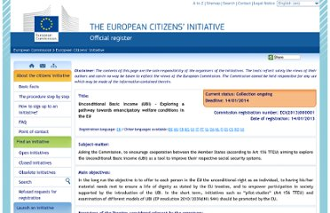 http://ec.europa.eu/citizens-initiative/public/initiatives/ongoing/details/2013/000001/en