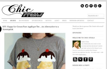 http://www.chic-steals.com/2010/11/diy-happy-ice-cream-face-applique-teean-alternative-screenprint.html