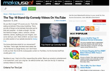 http://www.makeuseof.com/tag/top-10-standup-comedy-videos-youtube/