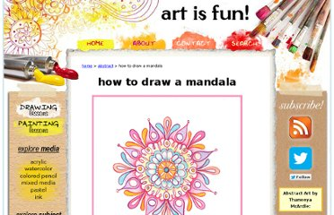 http://www.art-is-fun.com/how-to-draw-a-mandala.html