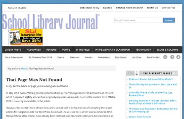 http://www.schoollibraryjournal.com/article/CA6712772.html