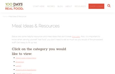 http://www.100daysofrealfood.com/real-food-resources/#dinner