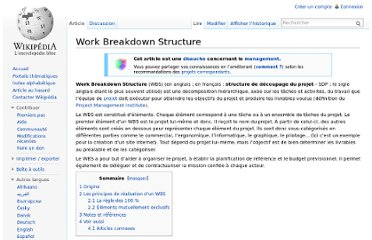 http://fr.wikipedia.org/wiki/Work_Breakdown_Structure