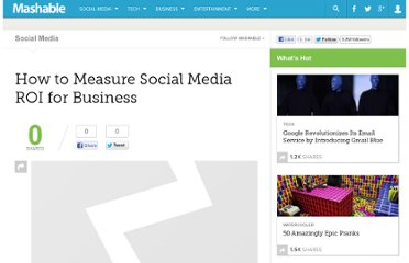 http://mashable.com/2008/07/31/measuring-social-media-roi-for-business/