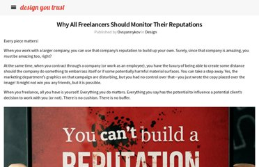http://designyoutrust.com/2013/05/why-all-freelancers-should-monitor-their-reputations/