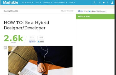 http://mashable.com/2010/09/08/hybrid-designer-developers/#Advice-for-WouldBe-DeveloperDesigners-5