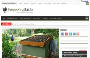 http://thepoultryguide.com/free-green-roof-chicken-coop-plans/