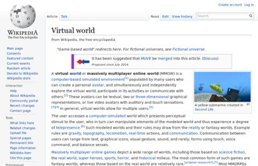 http://en.wikipedia.org/wiki/Virtual_world
