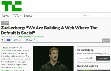 http://techcrunch.com/2010/04/21/zuckerbergs-buildin-web-default-social/