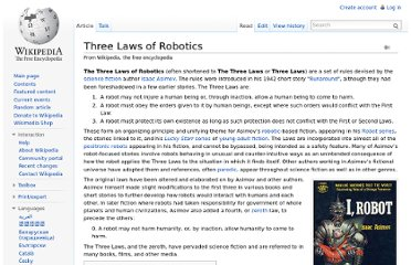 http://en.wikipedia.org/wiki/Three_Laws_of_Robotics