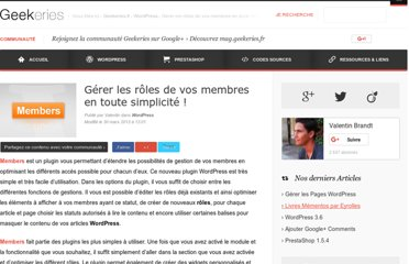 http://www.geekeries.fr/wordpress/gerer-roles-membres-wordpress-4719
