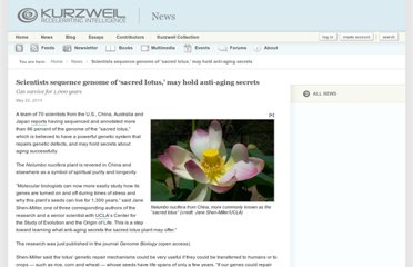 http://www.kurzweilai.net/scientists-sequence-genome-of-sacred-lotus-may-hold-anti-aging-secrets