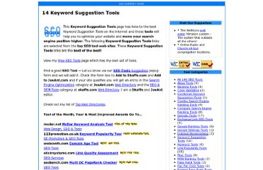 http://www.seocompany.ca/tool/8-keyword-suggestion-tools.html
