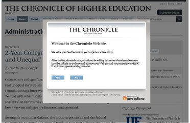 http://chronicle.com/article/2-Year-Colleges-Are-at-Risk-of/139445/